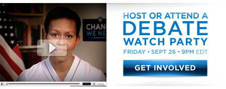 Host or attend a debate watch party